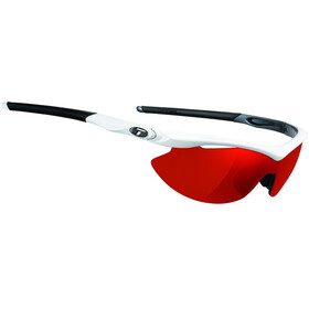 Tifosi Slip Glasses white/gunmetal - clarion red/AC red/clear